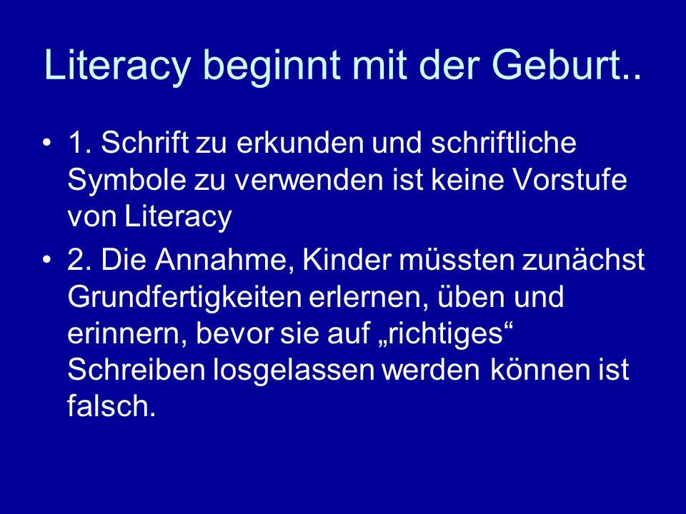 Literacy beginnt mit der Geburt..