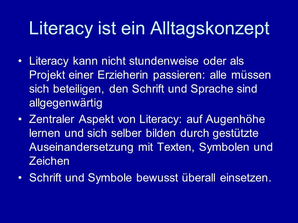 Literacy ist ein Alltagskonzept