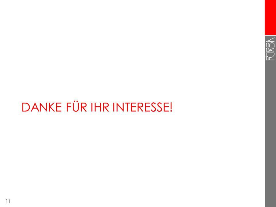 DANKE FÜR IHR INTERESSE!
