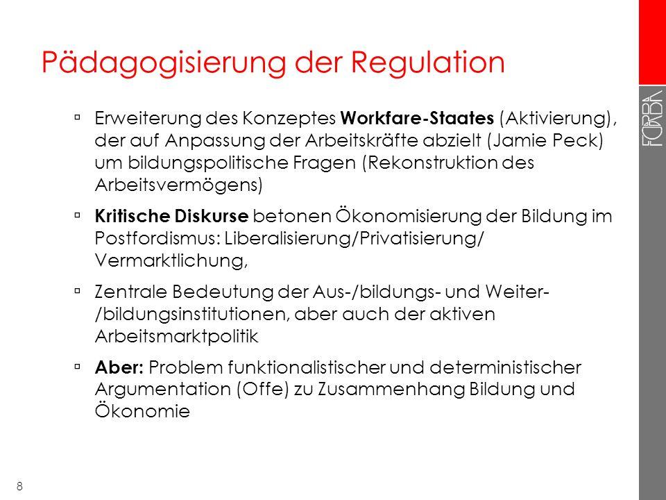 Pädagogisierung der Regulation