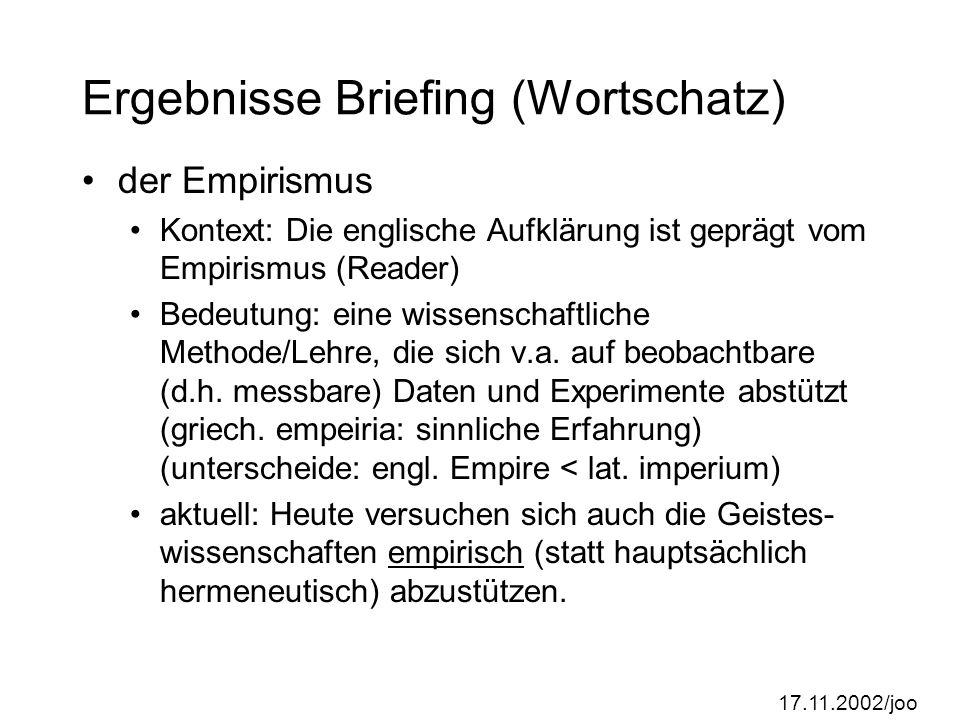Ergebnisse Briefing (Wortschatz)