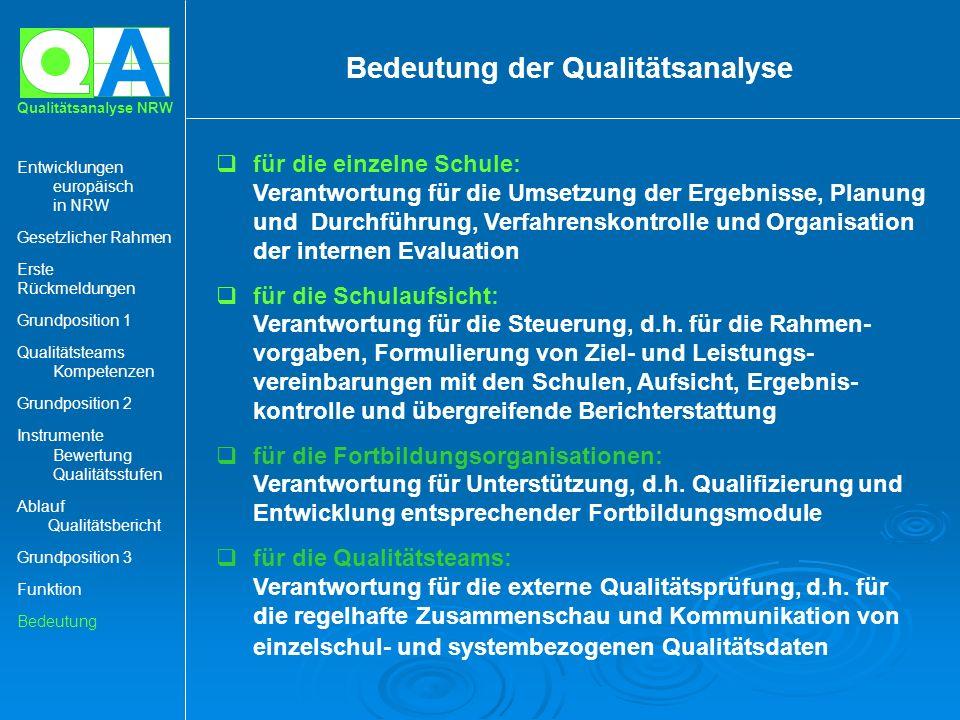 Bedeutung der Qualitätsanalyse