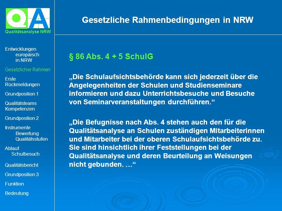 Gesetzliche Rahmenbedingungen in NRW