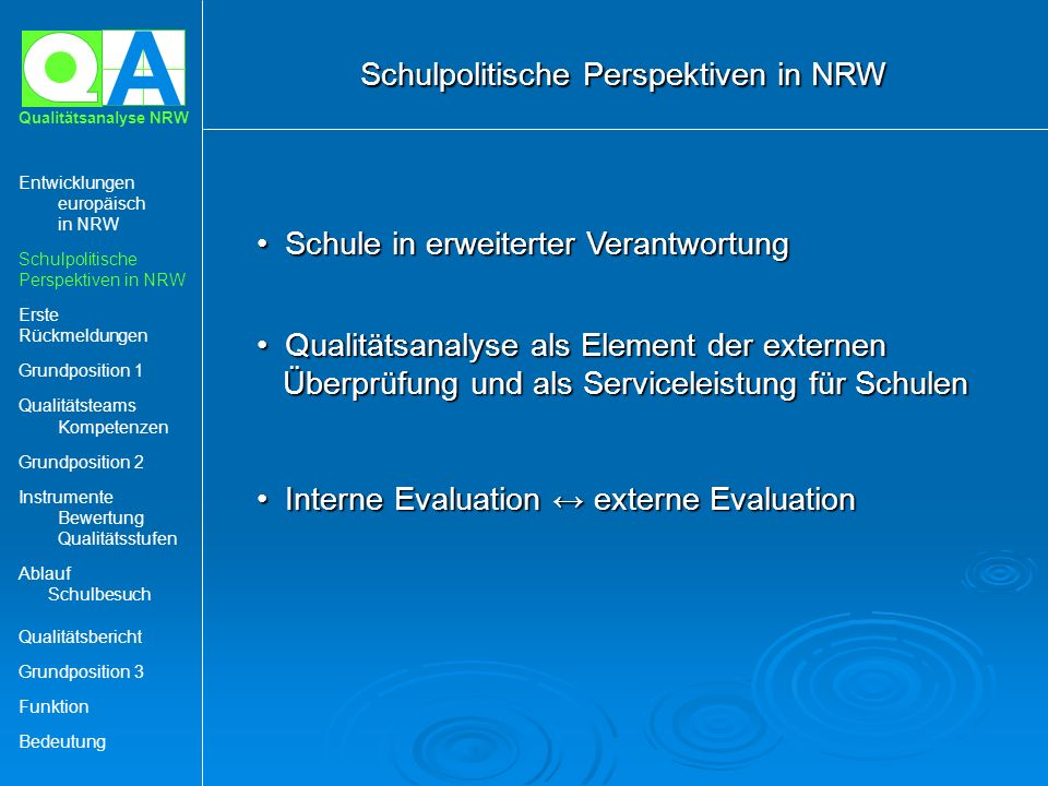 Schulpolitische Perspektiven in NRW