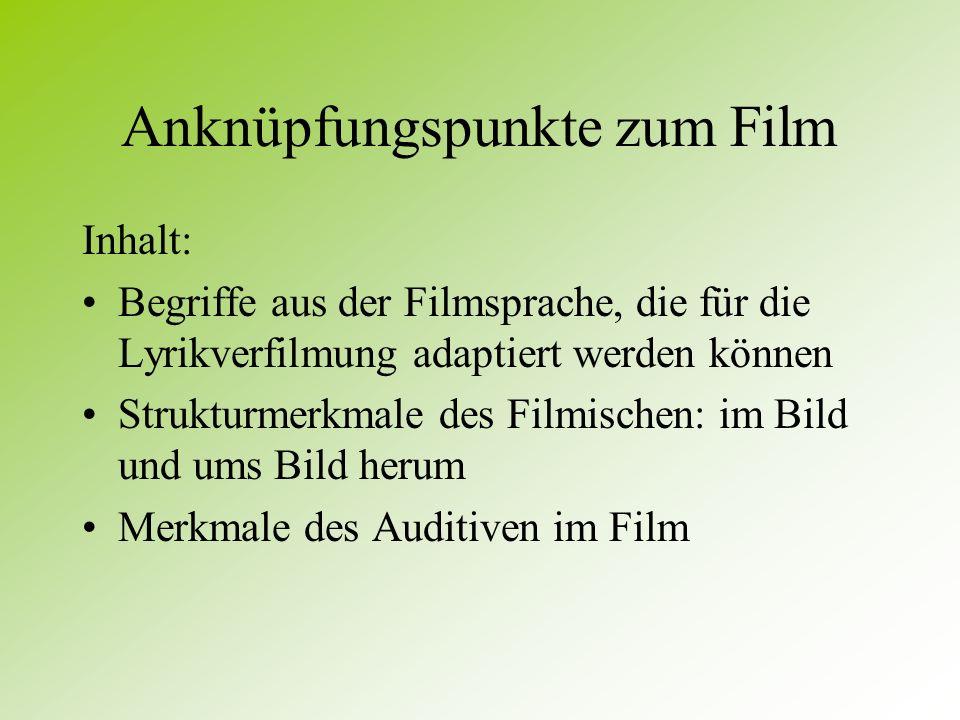 Anknüpfungspunkte zum Film