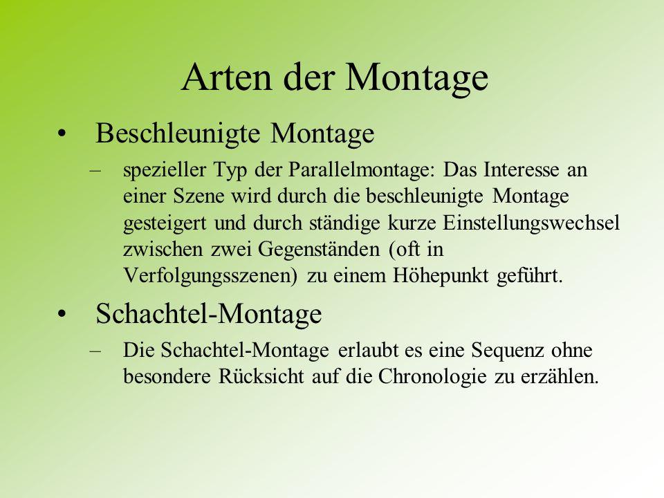 Arten der Montage Beschleunigte Montage Schachtel-Montage
