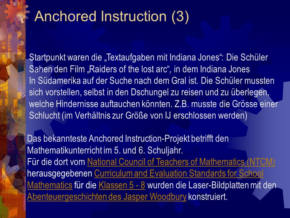 Anchored Instruction (3)