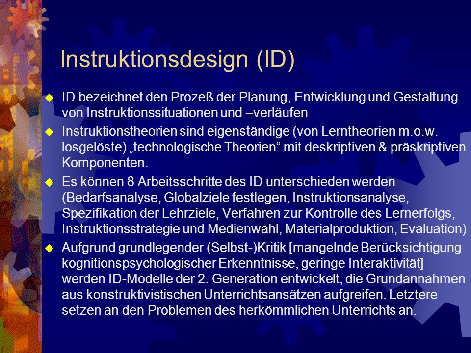 Instruktionsdesign (ID)