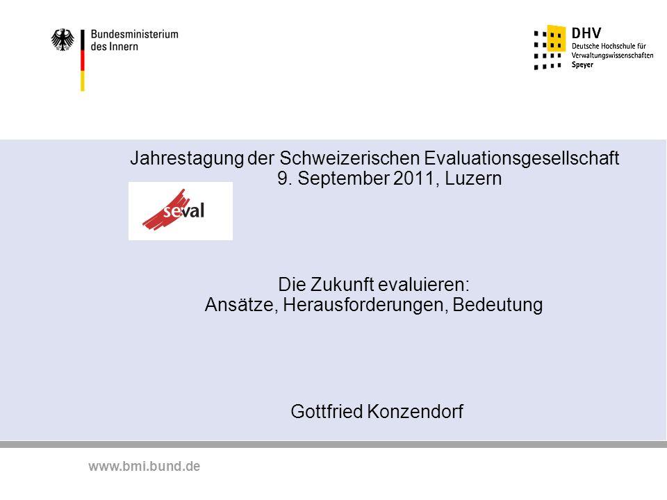 Jahrestagung der Schweizerischen Evaluationsgesellschaft 9