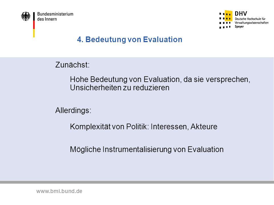 4. Bedeutung von Evaluation