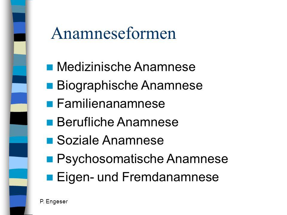 Anamneseformen Medizinische Anamnese Biographische Anamnese