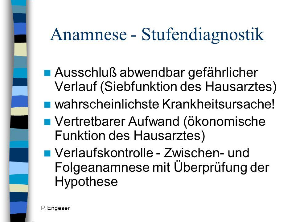 Anamnese - Stufendiagnostik