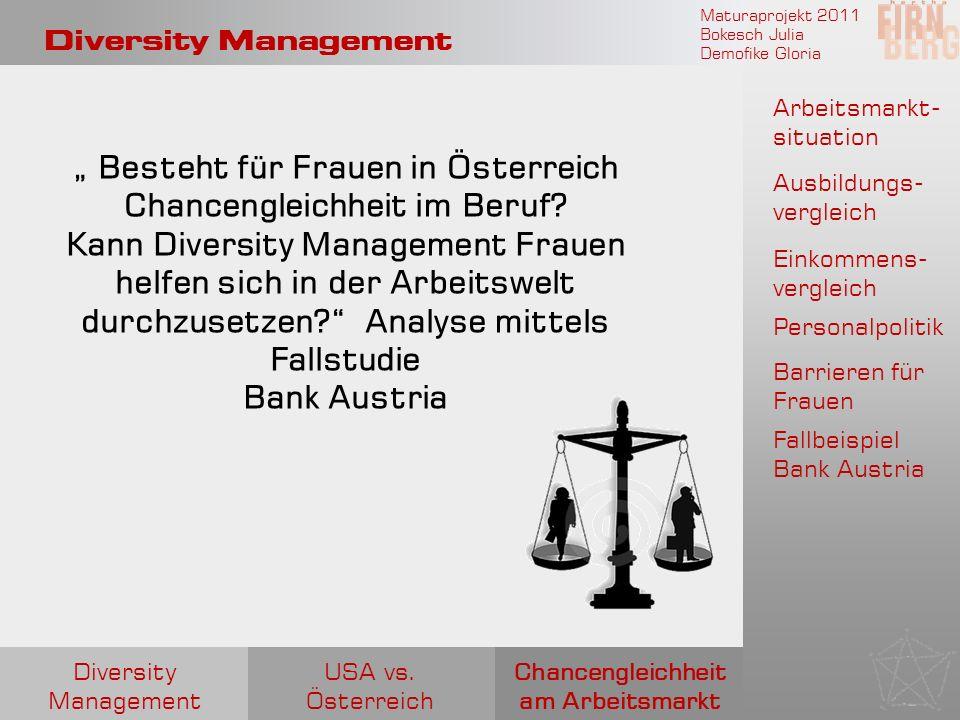 """"""" Besteht für Frauen in Österreich Chancengleichheit im Beruf"""