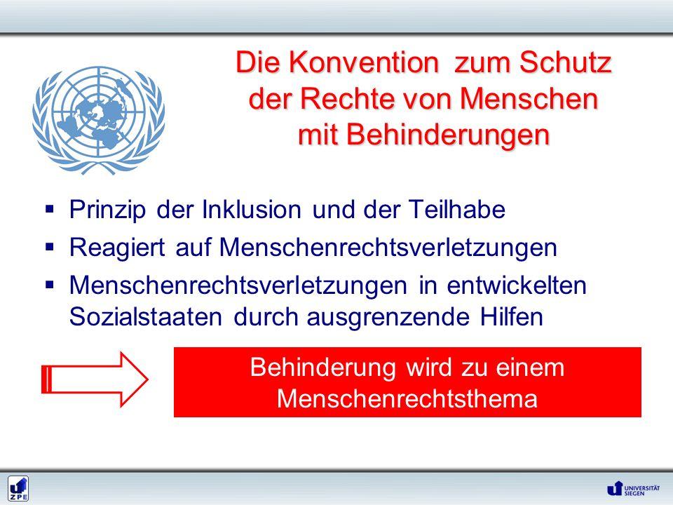 Die Konvention zum Schutz der Rechte von Menschen mit Behinderungen