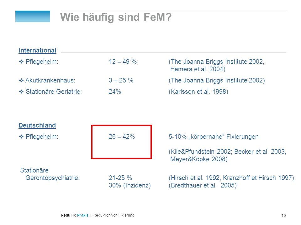 Wie häufig sind FeM International