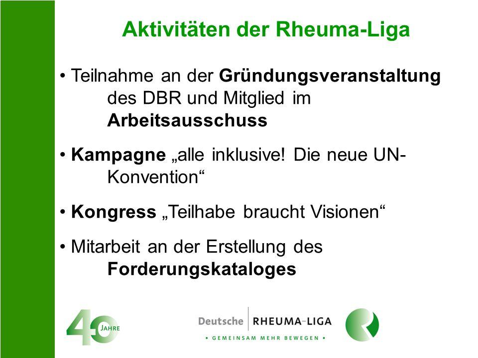 Aktivitäten der Rheuma-Liga