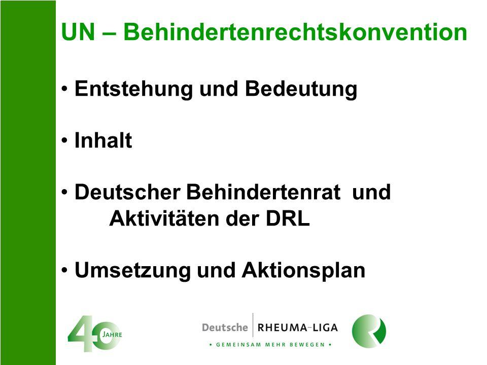 UN – Behindertenrechtskonvention