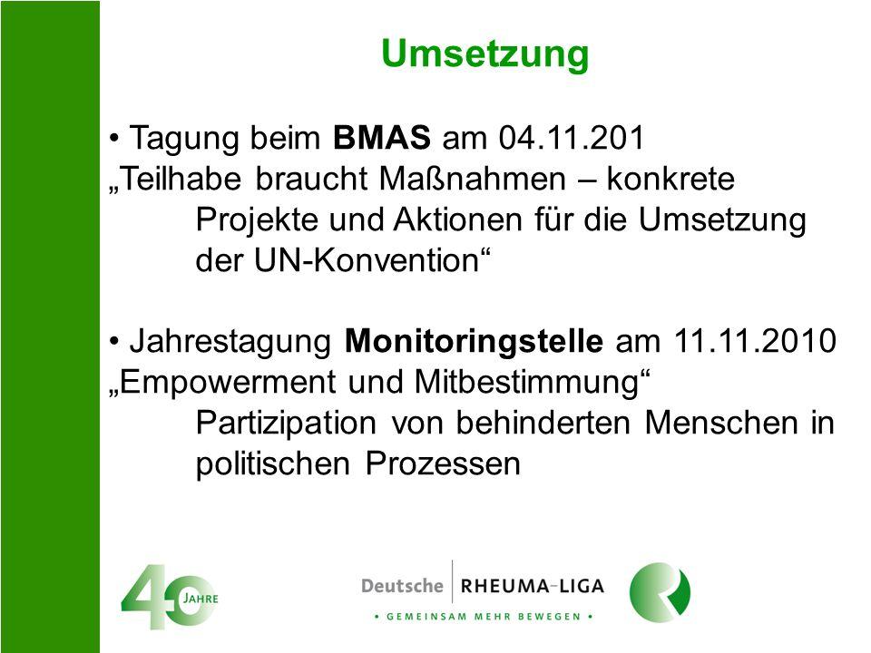 Umsetzung Tagung beim BMAS am 04.11.201