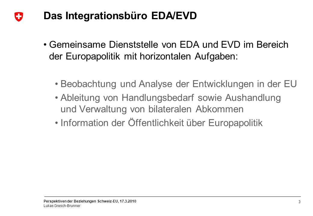 Das Integrationsbüro EDA/EVD