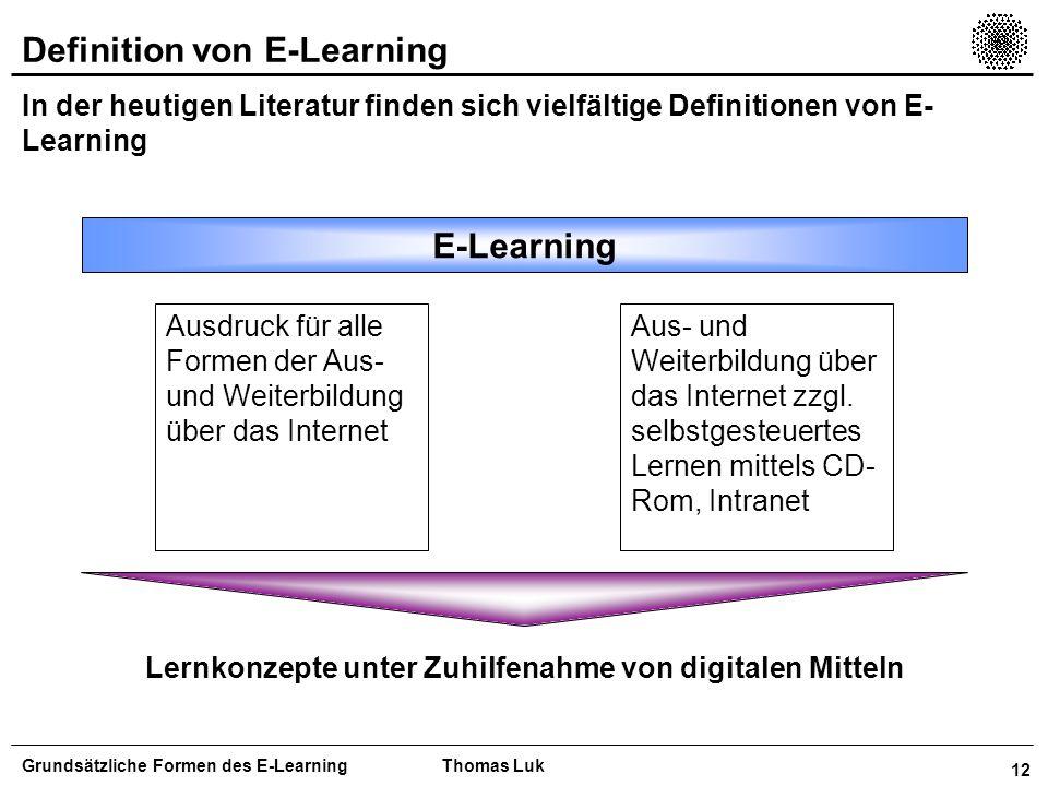 Lernkonzepte unter Zuhilfenahme von digitalen Mitteln