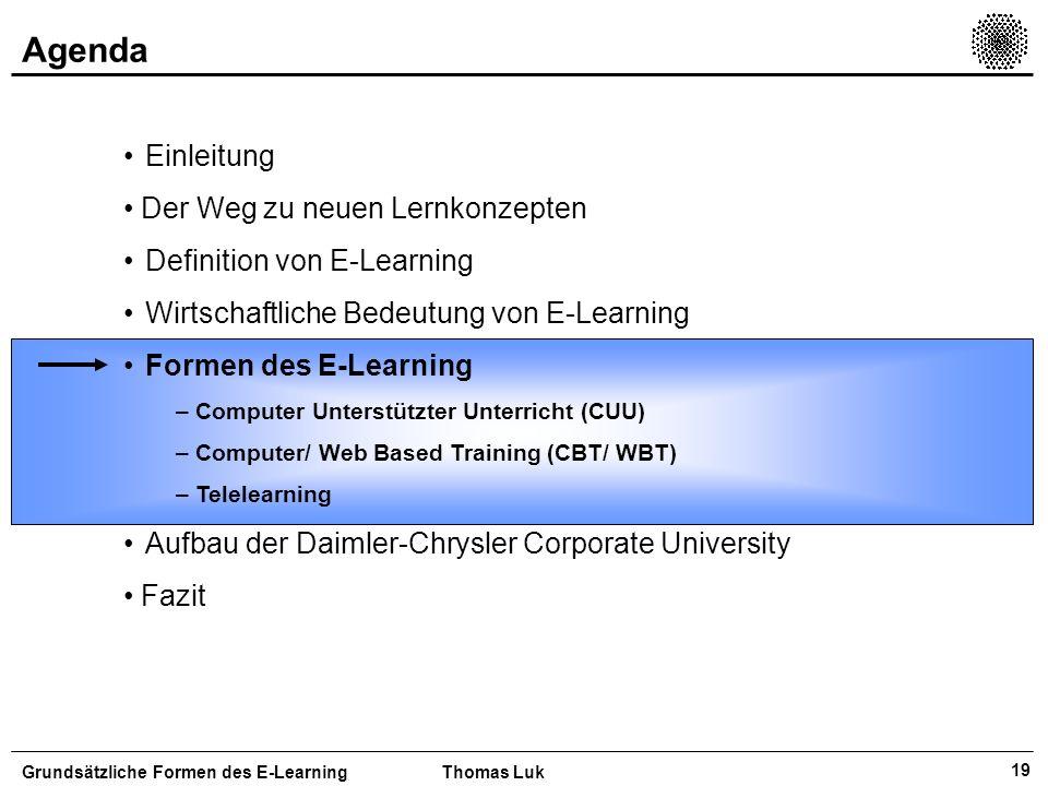 Agenda Einleitung Der Weg zu neuen Lernkonzepten