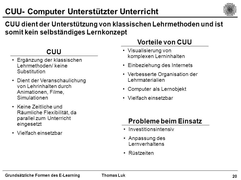CUU- Computer Unterstützter Unterricht
