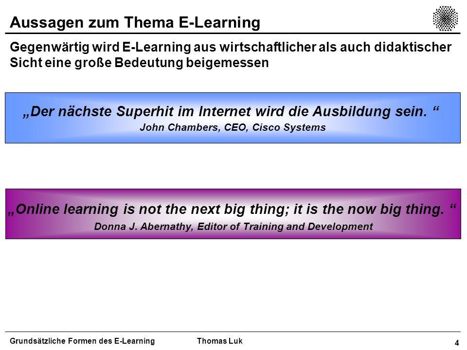 Aussagen zum Thema E-Learning