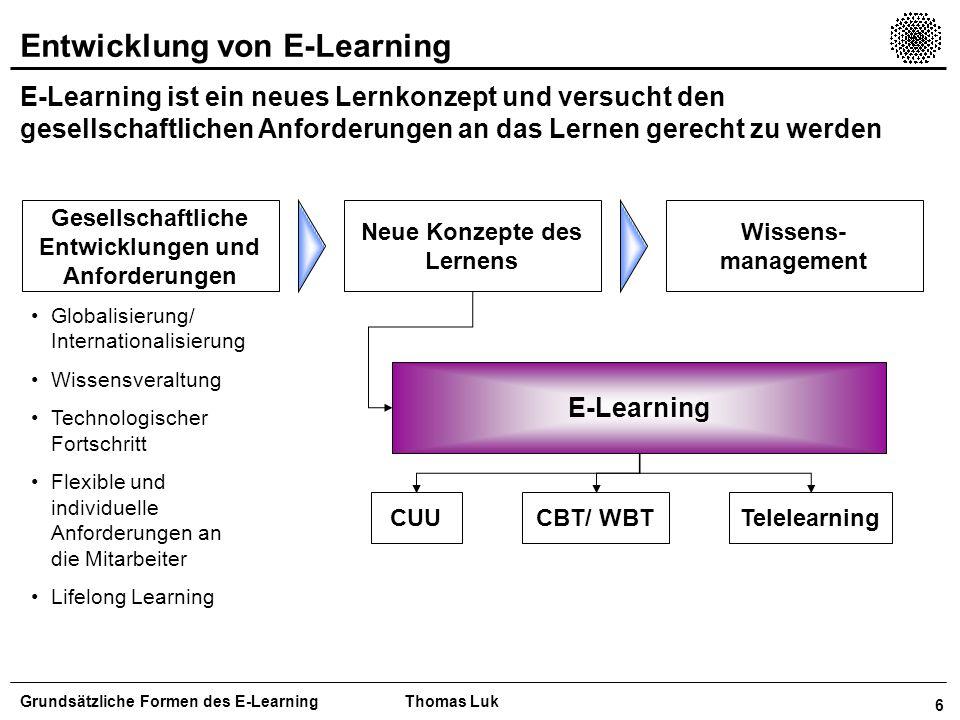 Entwicklung von E-Learning