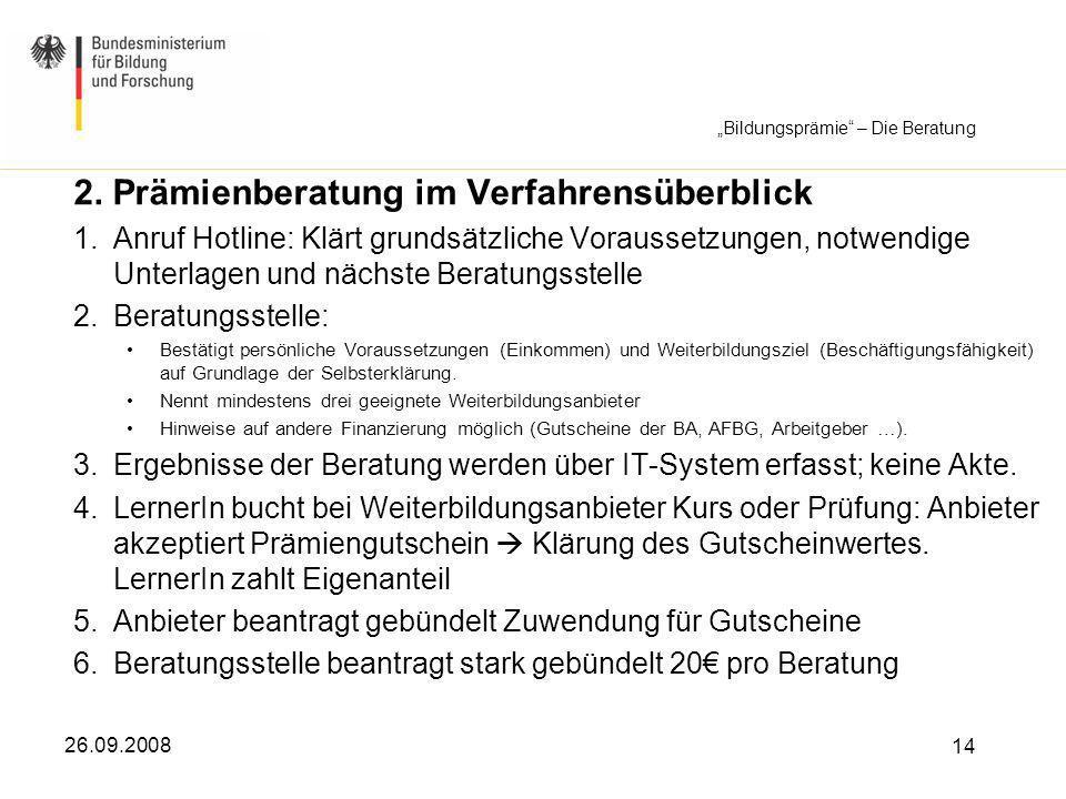 """Bildungsprämie – Die Beratung"