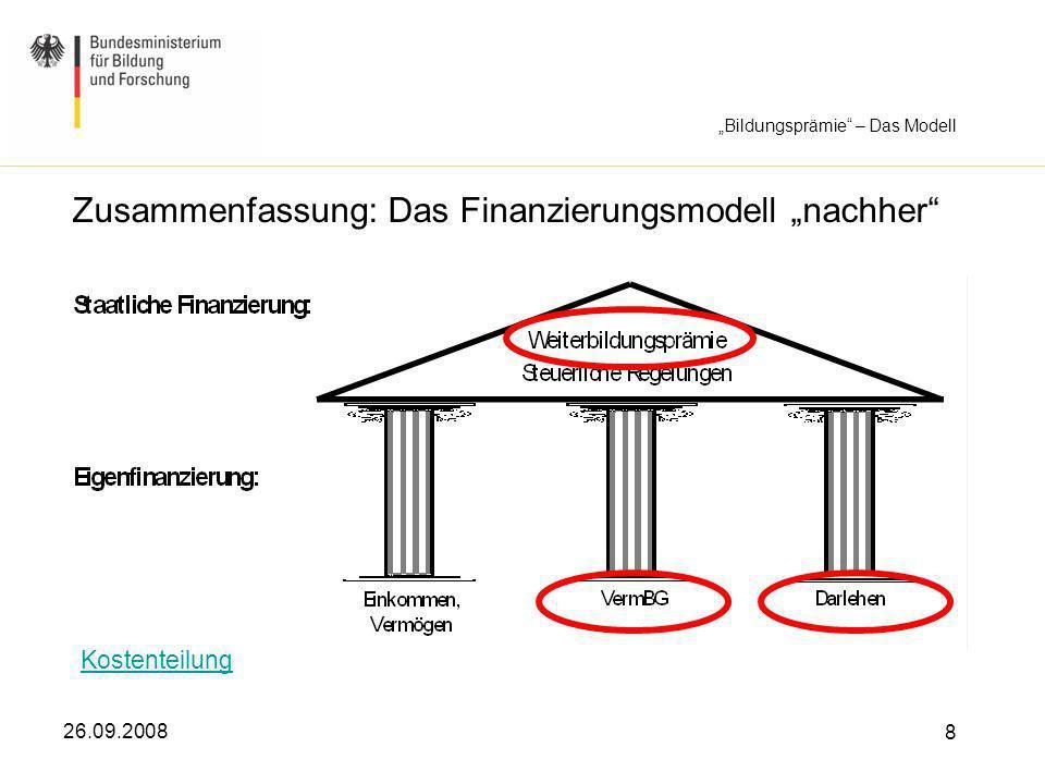 """""""Bildungsprämie – Das Modell"""
