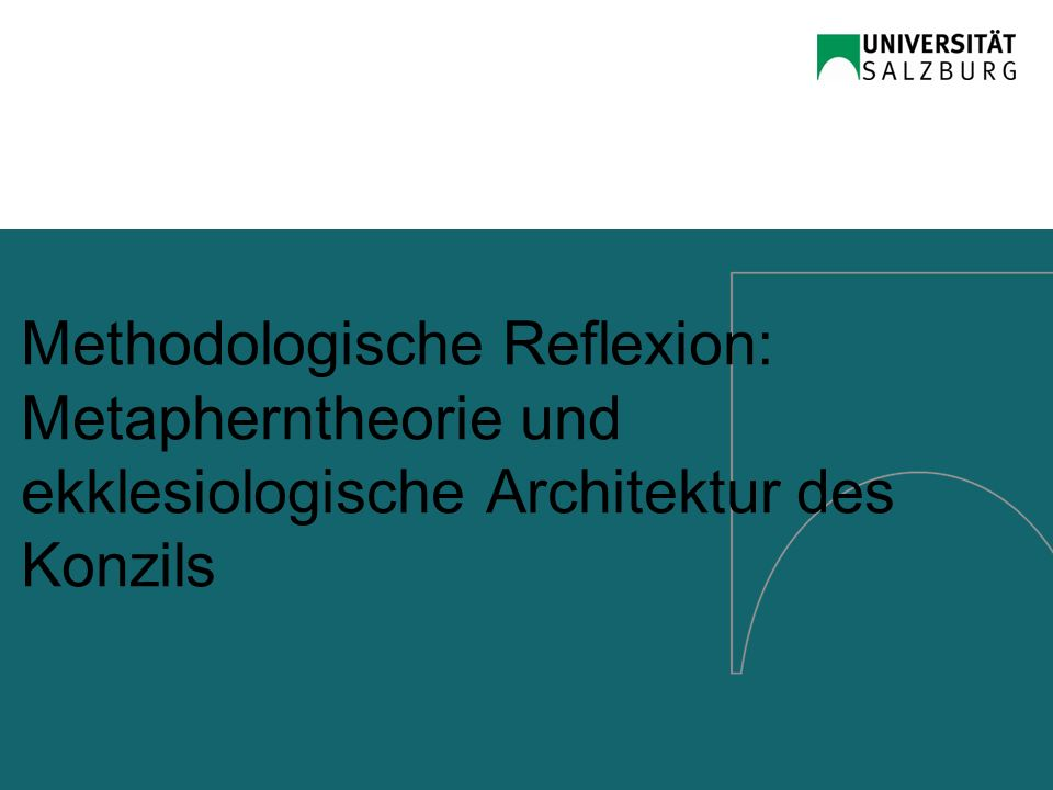 Methodologische Reflexion: Metapherntheorie und ekklesiologische Architektur des Konzils