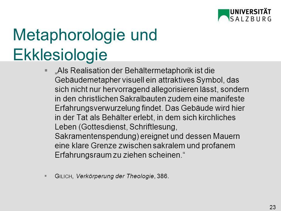 Metaphorologie und Ekklesiologie