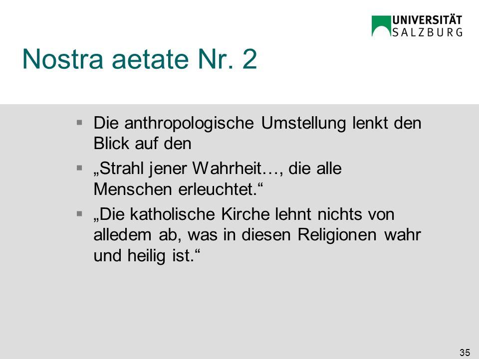 """Nostra aetate Nr. 2 Die anthropologische Umstellung lenkt den Blick auf den. """"Strahl jener Wahrheit…, die alle Menschen erleuchtet."""
