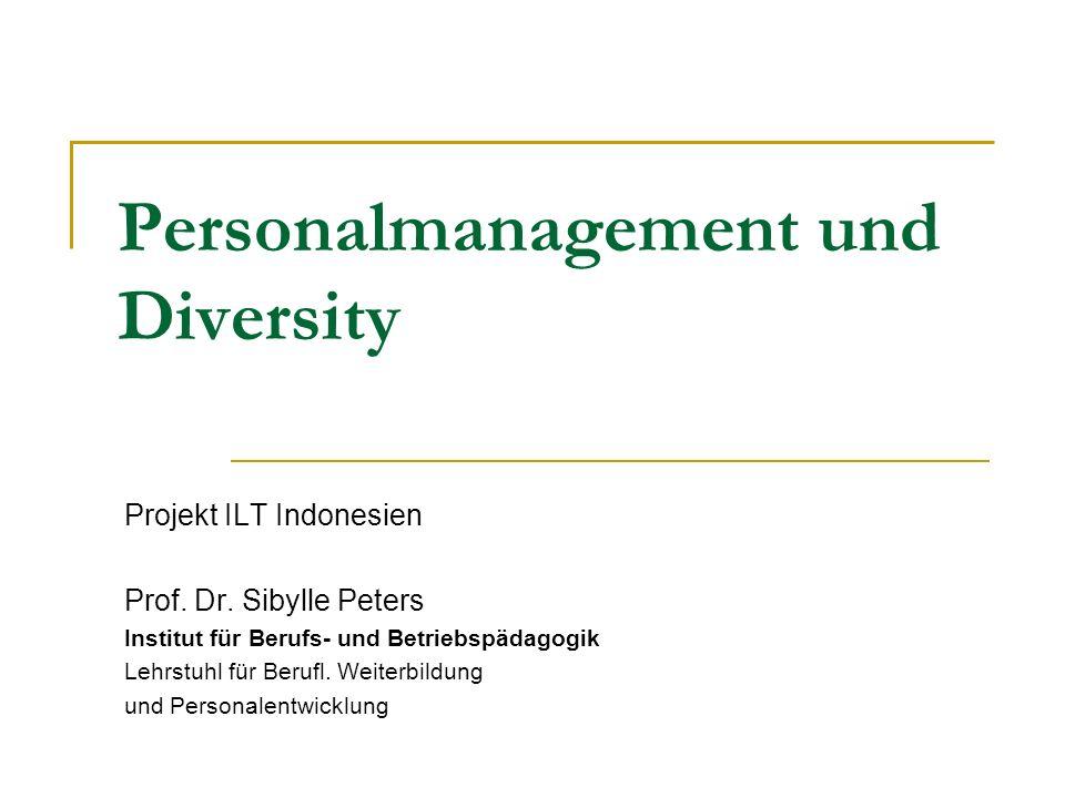 Personalmanagement und Diversity