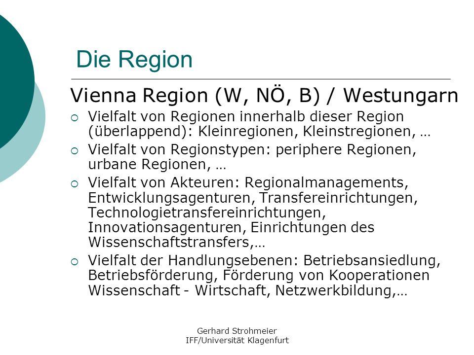 Gerhard Strohmeier IFF/Universität Klagenfurt