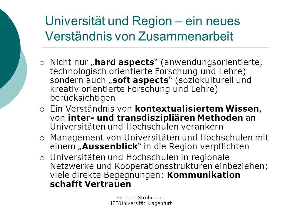 Universität und Region – ein neues Verständnis von Zusammenarbeit