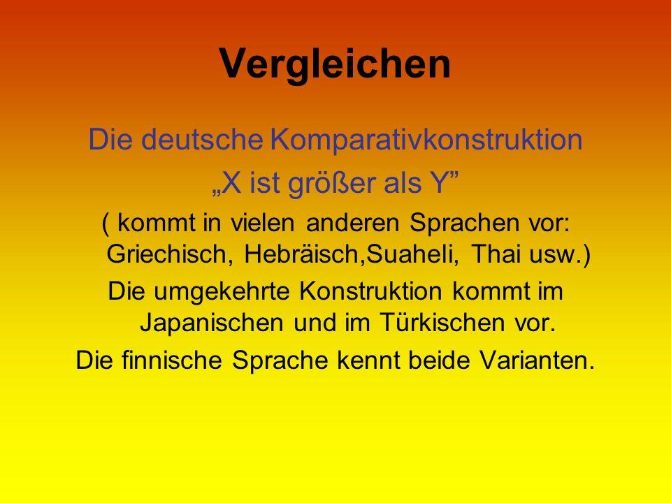 """Vergleichen Die deutsche Komparativkonstruktion """"X ist größer als Y"""