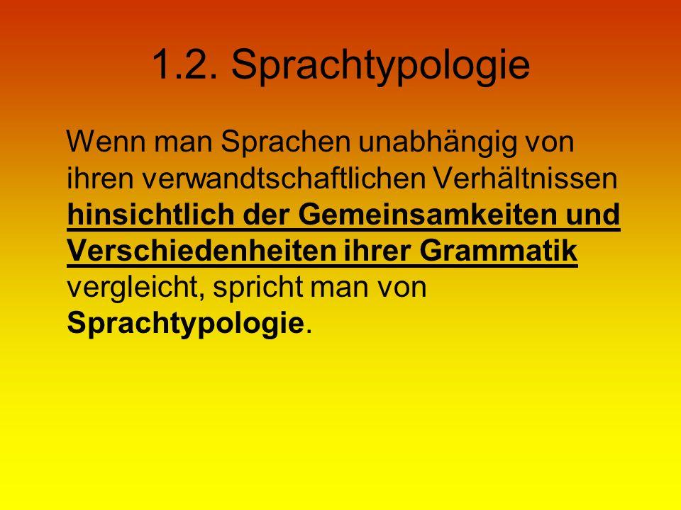 1.2. Sprachtypologie
