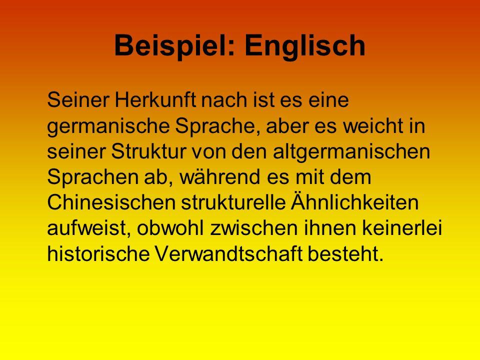 Beispiel: Englisch