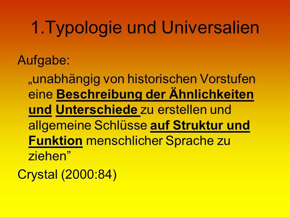 1.Typologie und Universalien