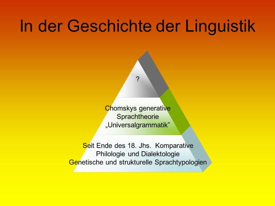 In der Geschichte der Linguistik