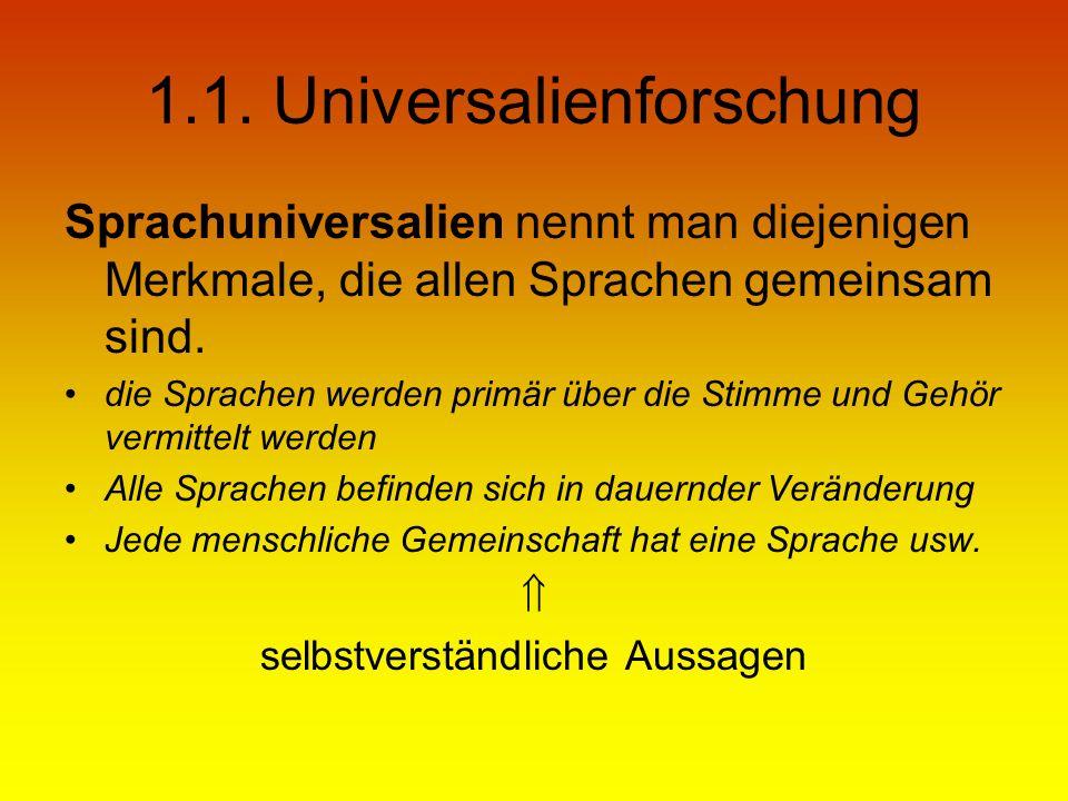 1.1. Universalienforschung