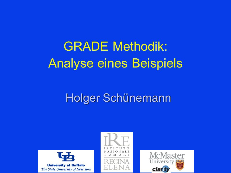 GRADE Methodik: Analyse eines Beispiels