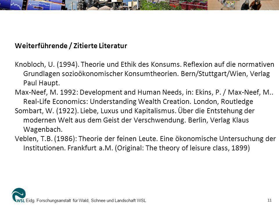 Weiterführende / Zitierte Literatur Knobloch, U. (1994)