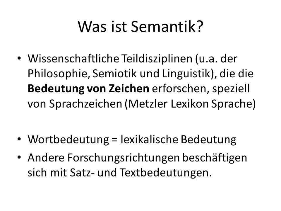 Was ist Semantik