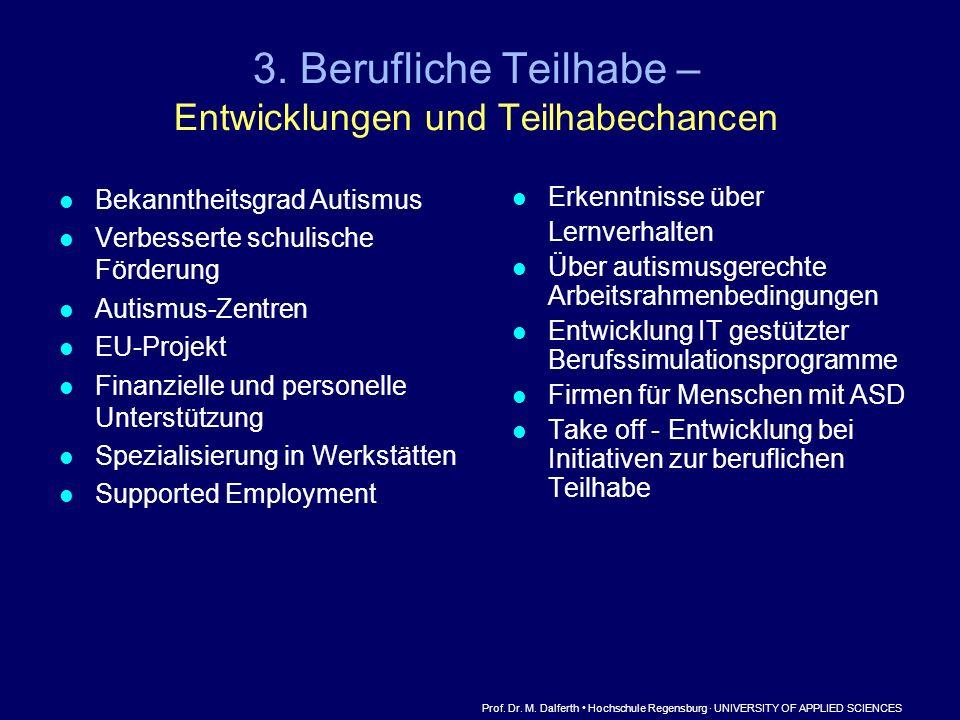 3. Berufliche Teilhabe – Entwicklungen und Teilhabechancen