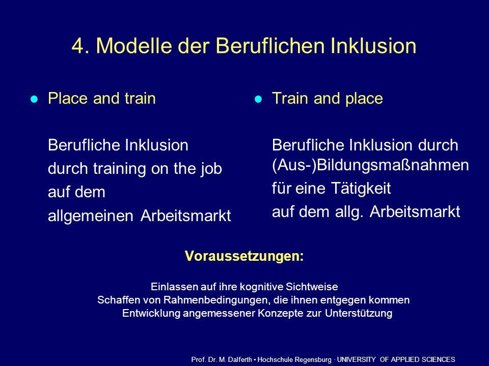 4. Modelle der Beruflichen Inklusion