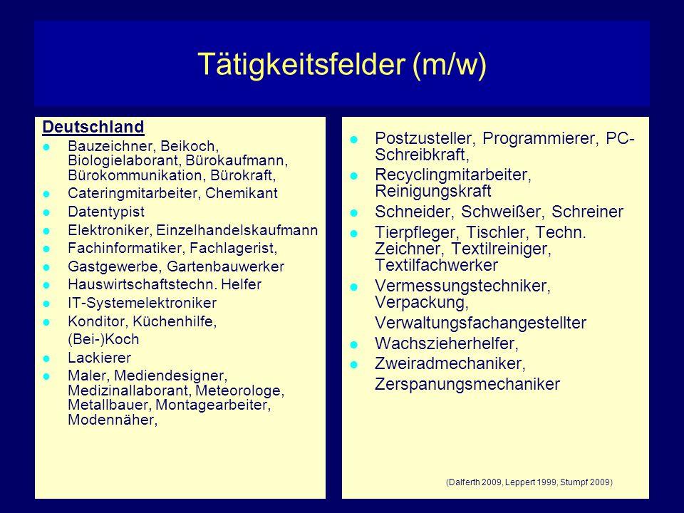 Tätigkeitsfelder (m/w)