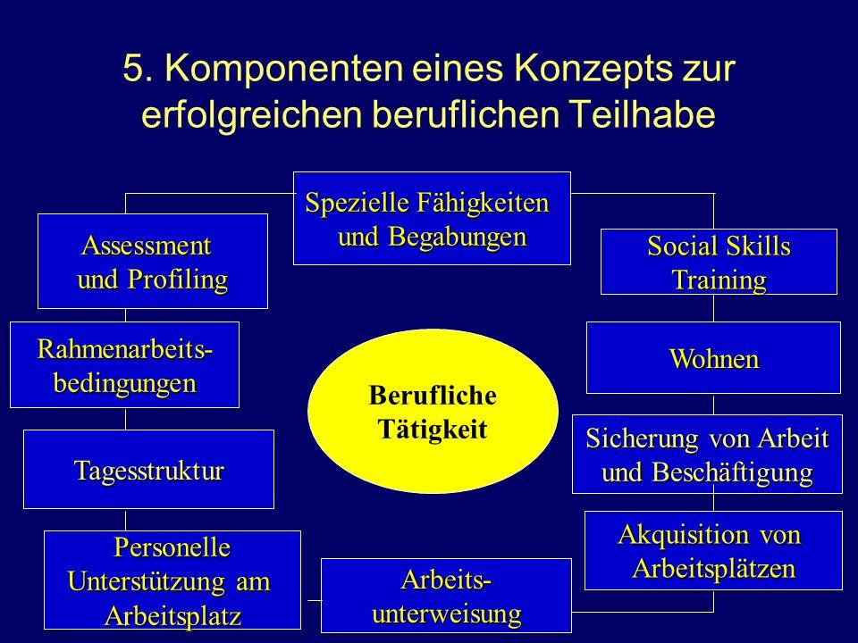 5. Komponenten eines Konzepts zur erfolgreichen beruflichen Teilhabe