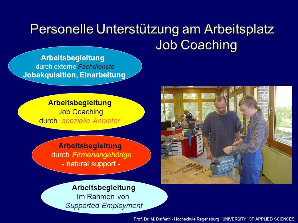 Personelle Unterstützung am Arbeitsplatz Job Coaching